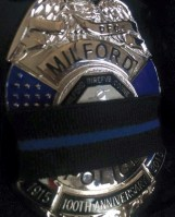 Milford CT Badge Black Band